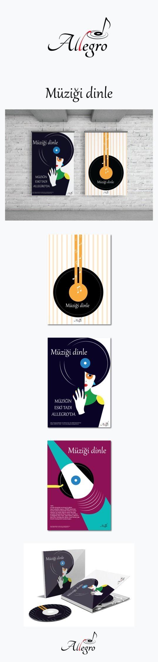 Müzik Şirketi logosu ve afiş ça - aysenurdmr | ello