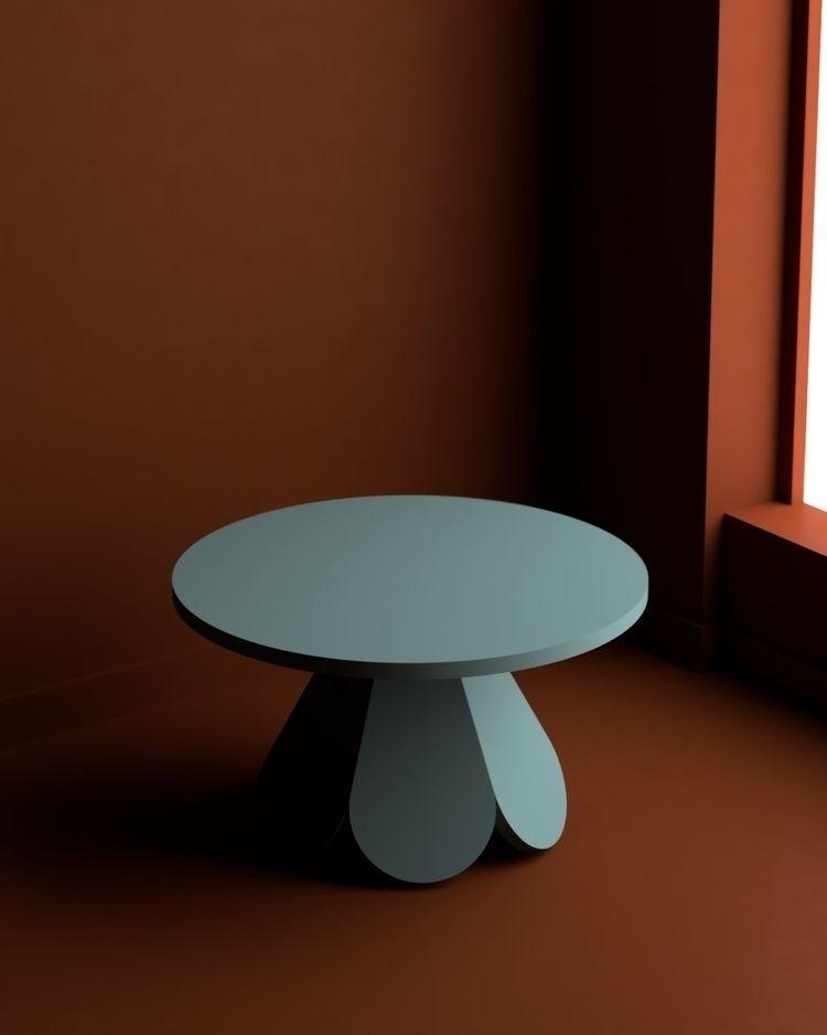 Custom Blossom Coffee Table fin - doweljones   ello