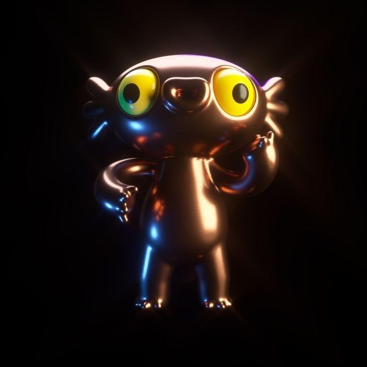 Rose Gold Axolotl - characterdesign - oscarasecas   ello