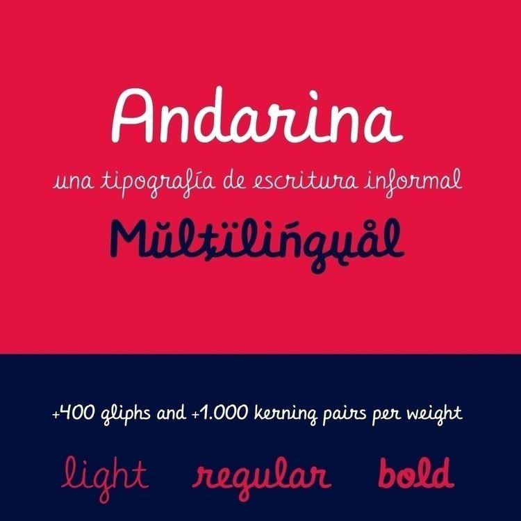 Check font Andarina. weights - typography - andreugallart | ello