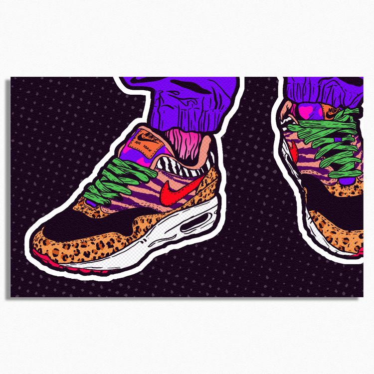 Sneakers - Coming - illustration - justblack | ello