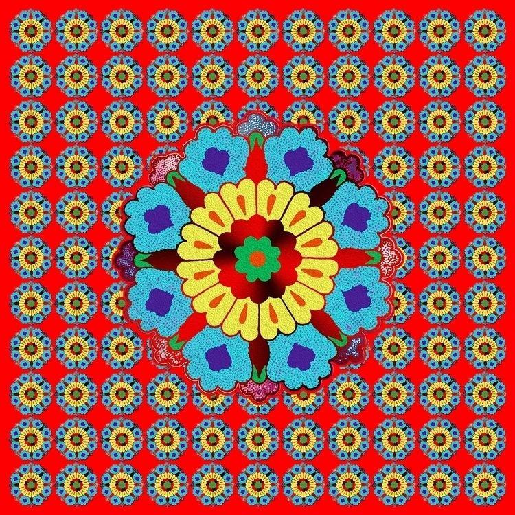 PERSIAN FLOWERS PATTERN Pixels  - zuzugraphics   ello
