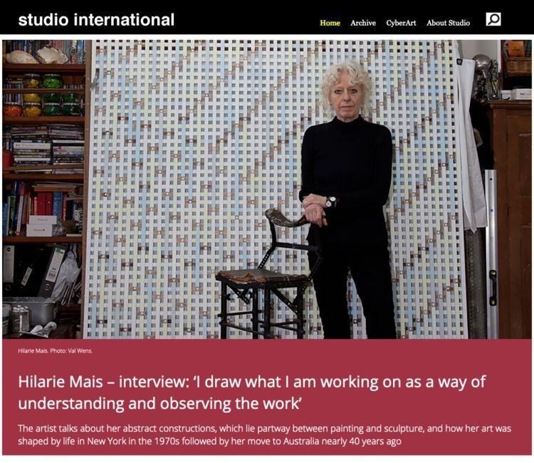Hilarie Mais – interview: draw  - studiointernational | ello