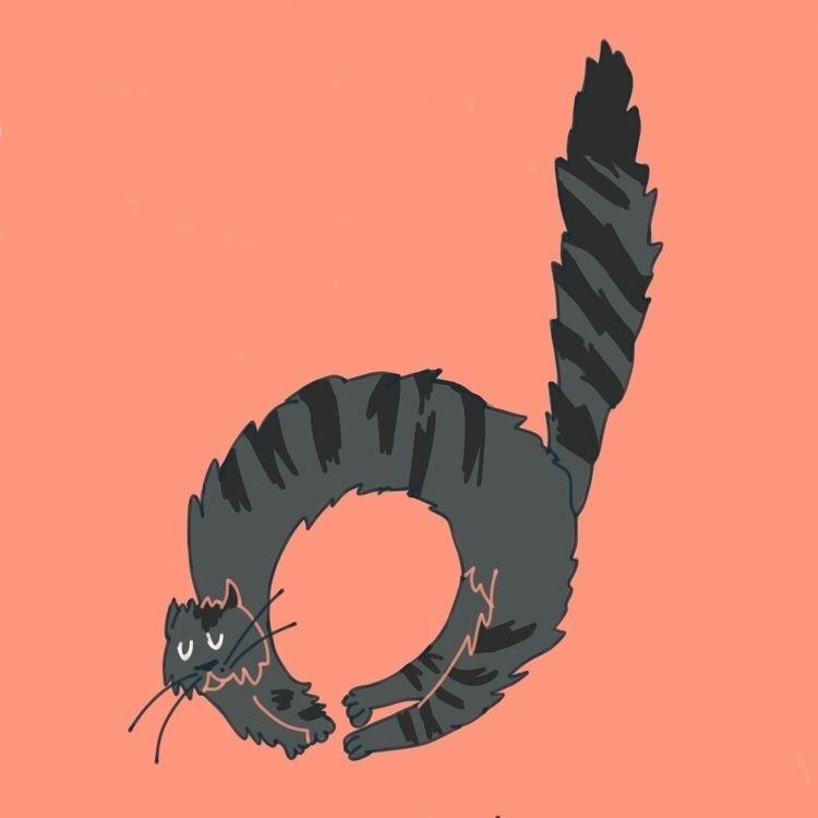 illustration, 36daysoftype, cats - alissonsteph | ello