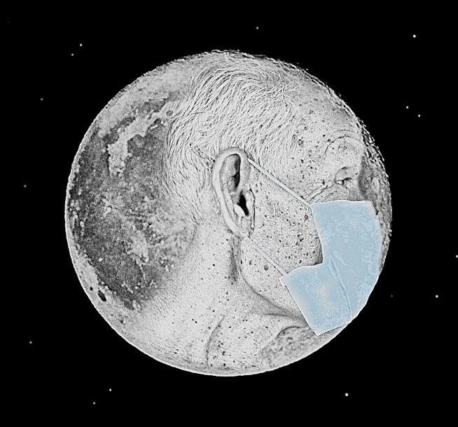 Man Moon 2020 Mart Betz - coronavirus - martbetz   ello