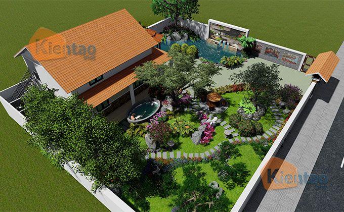 Thiết kế nhà vườn 500m2 ở Đồng  - thienai | ello