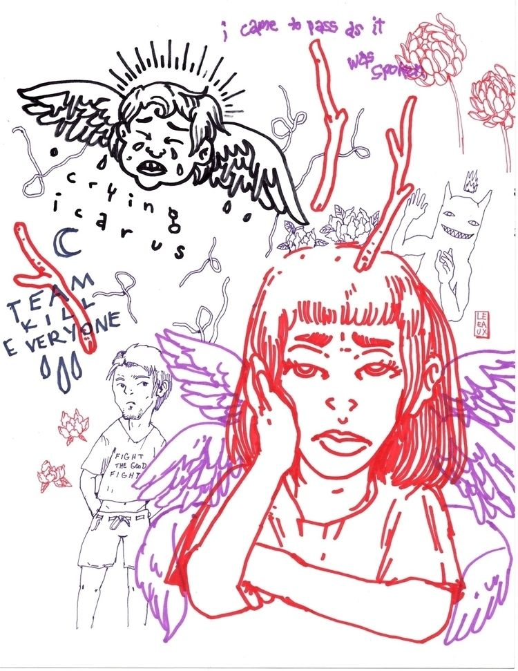 pencil, references, imagination - leeaux | ello