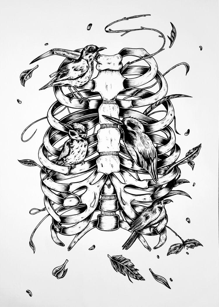 Dreaming Birds •  - illustration - freshmilkart   ello