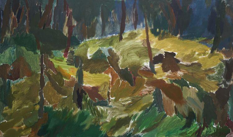 Walk Forest, 2015 - painting, oiloncanvas - dagnegum | ello