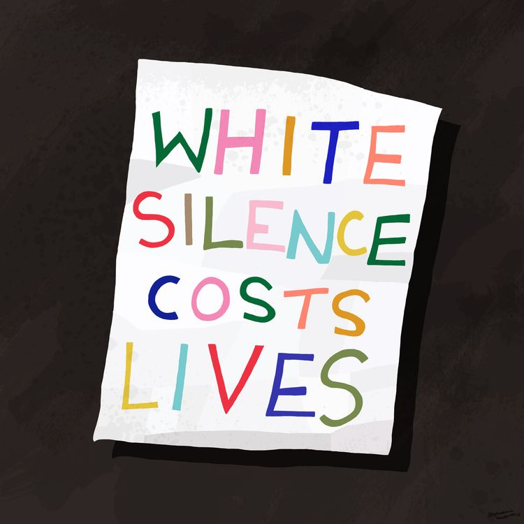 White Silence Costs Lives. Step - stephaniemadeit | ello