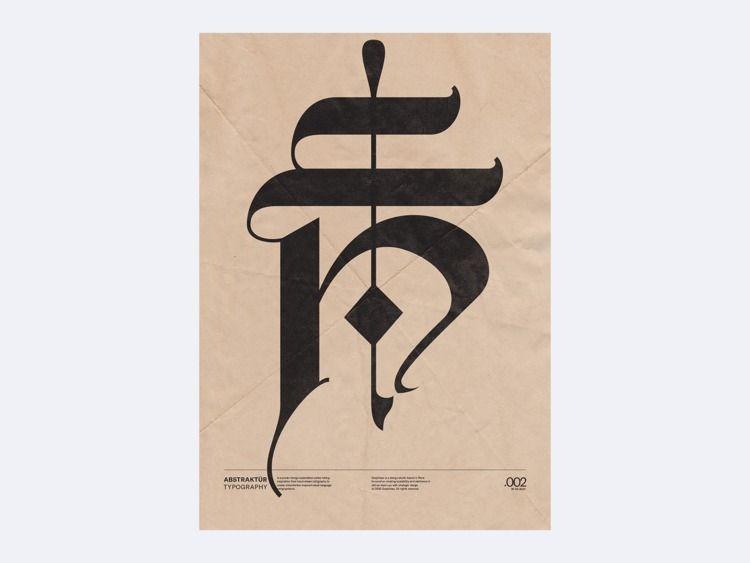 Abstraktür typography - 002 for - graphikas | ello