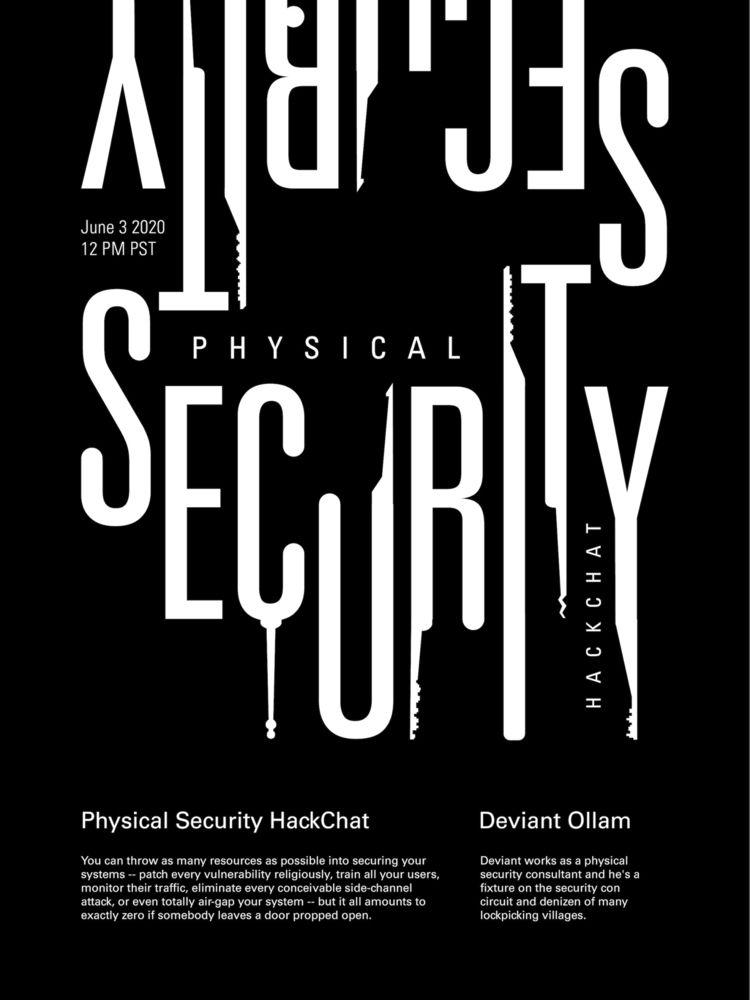 Physical Security HackChat - poster - randomwalks | ello