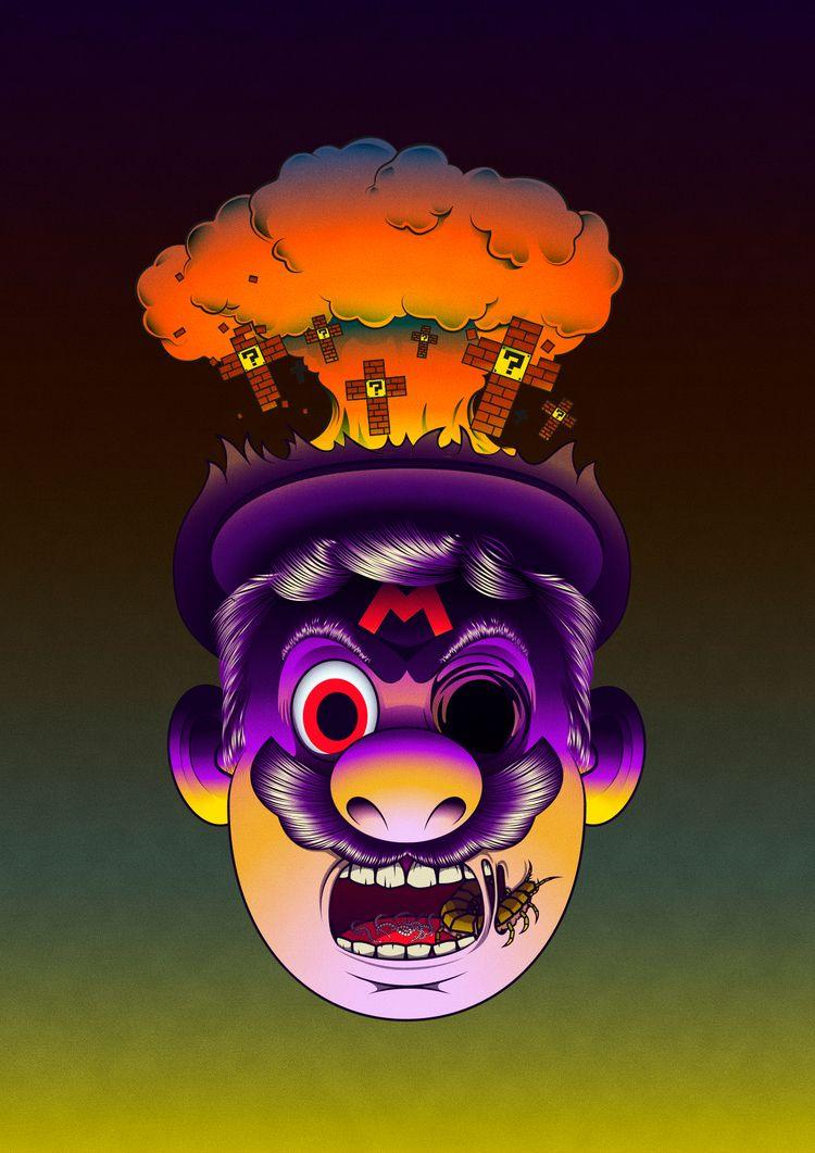 Supermario dark - mariobros, illustration - juliusllopis | ello