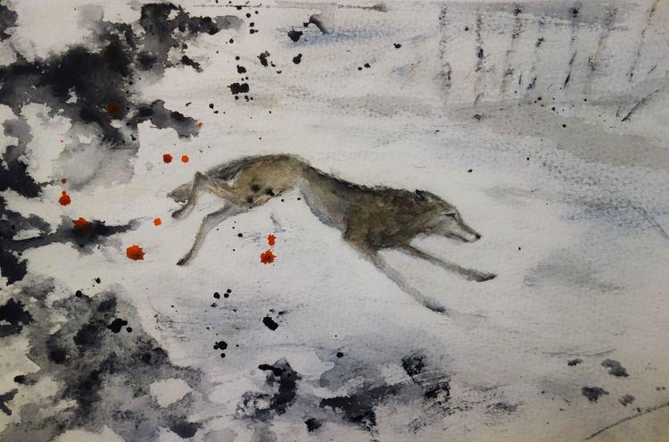 hunted - wolf, varg, illustration - fannyhenriksson | ello