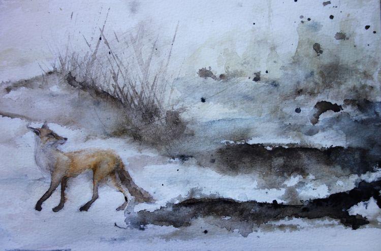 Illustration, fox, räv, rödräv - fannyhenriksson | ello