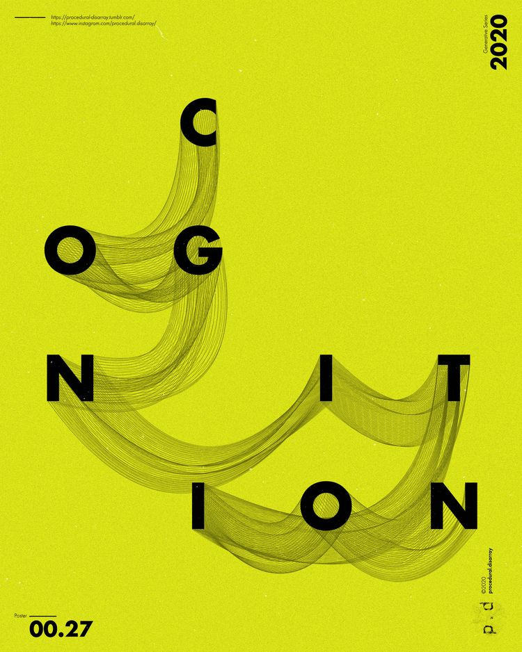 > 00.00.27    COGNITION - poster - procedural-disarray   ello