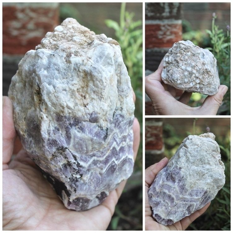 Raw chevron amethyst - crystals - gypsyhawaii | ello