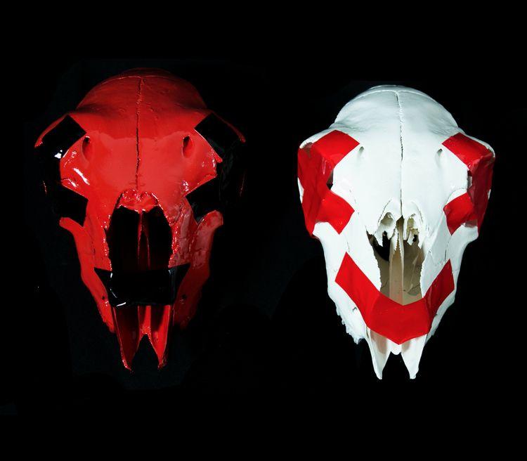 Black smiley Red Sheep Skull, a - joeaton | ello