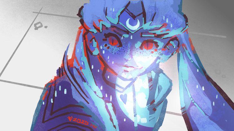 Sailor Moon Redraw - digitalpaint - evandileo | ello
