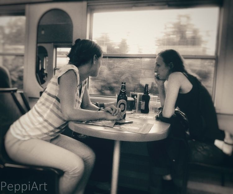 train, travel, photography, bw - mrspeppermint | ello