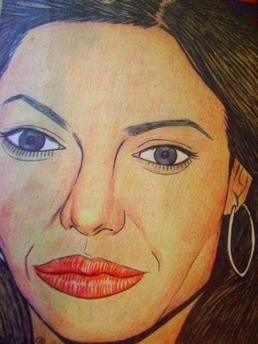 Angelina Jolie - portrait, actress - odinelpierre | ello