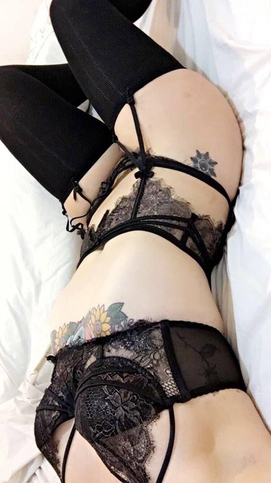 lingerie, pale, tattoo, alternative - ruinedcarpet | ello