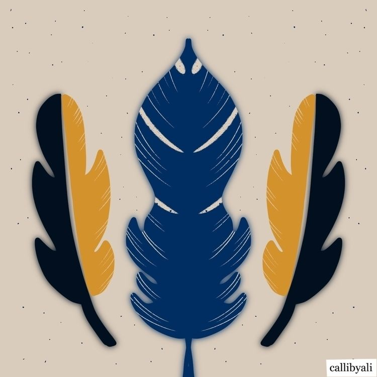 Feathers... . lightly - procreateillustrator - callibyali | ello