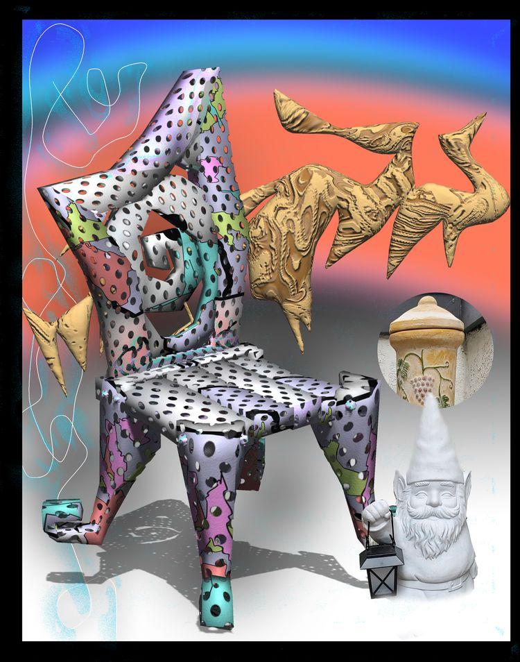 sweet throne, gnome sayin - 3d, texture - escapescapes | ello