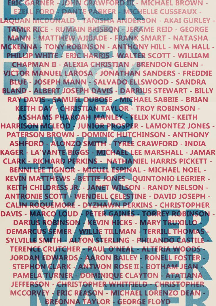 NAMES (2020 - BLACKLIVESMATTER - drewrobinson | ello