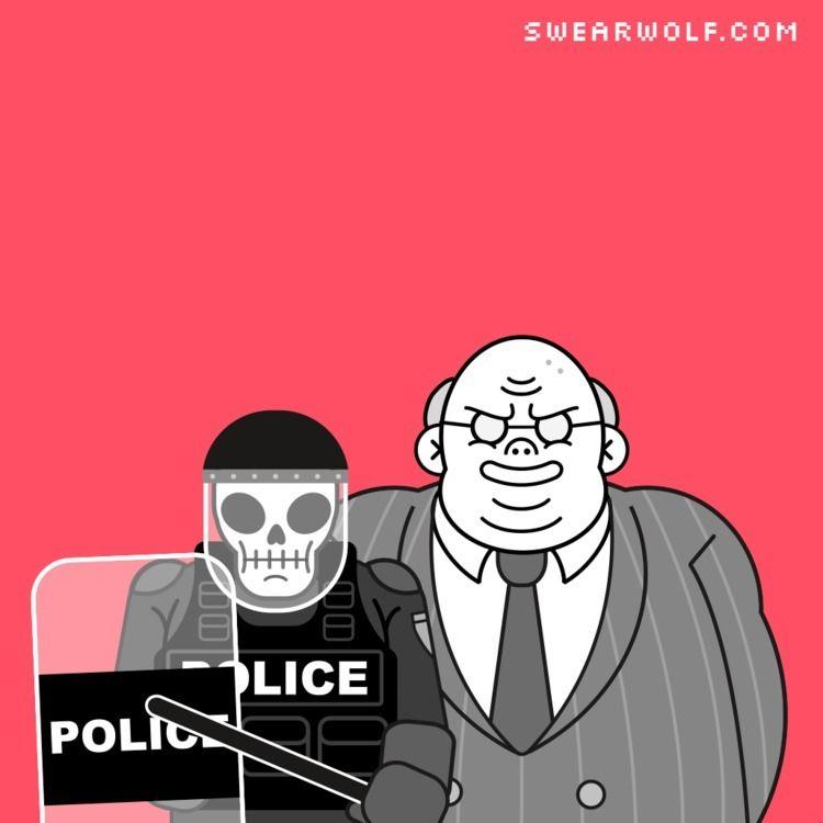 Riot, cops, bankers, swearwolf - swearwolf | ello