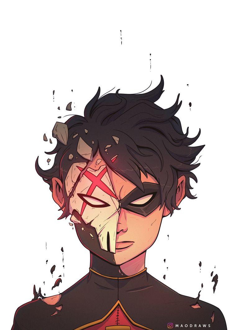 Robin/RedX fan art - TeenTitans - maodraws   ello