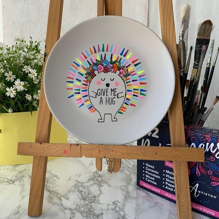 Painted Plate Artistro Acrylic  - artistro | ello