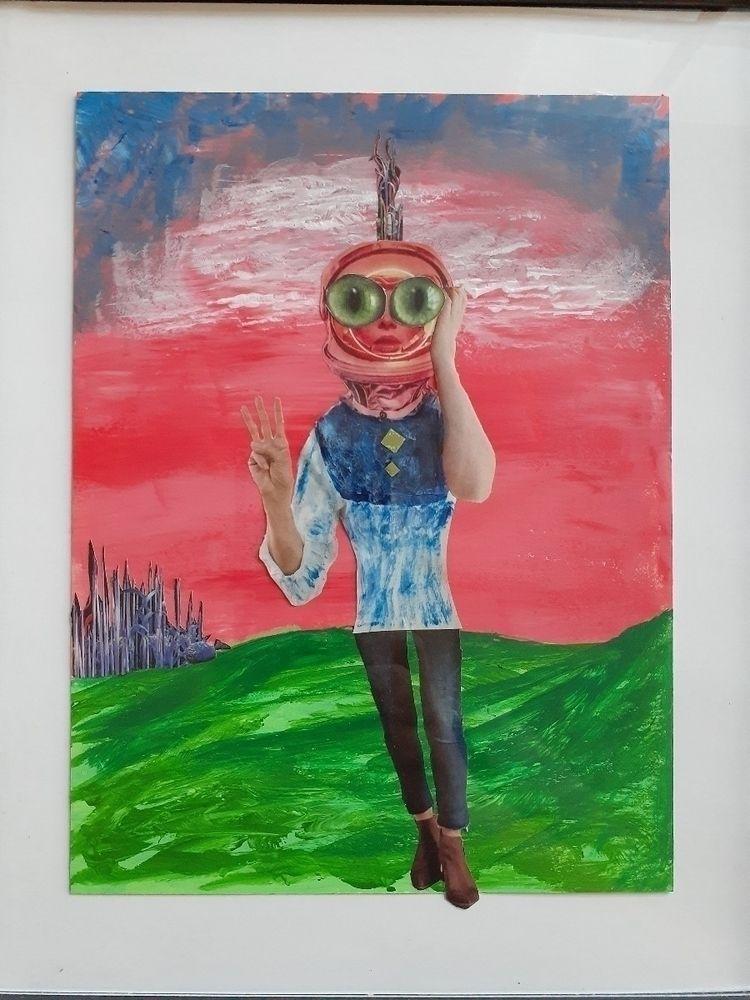 Collage acrylic - redpoppynola | ello