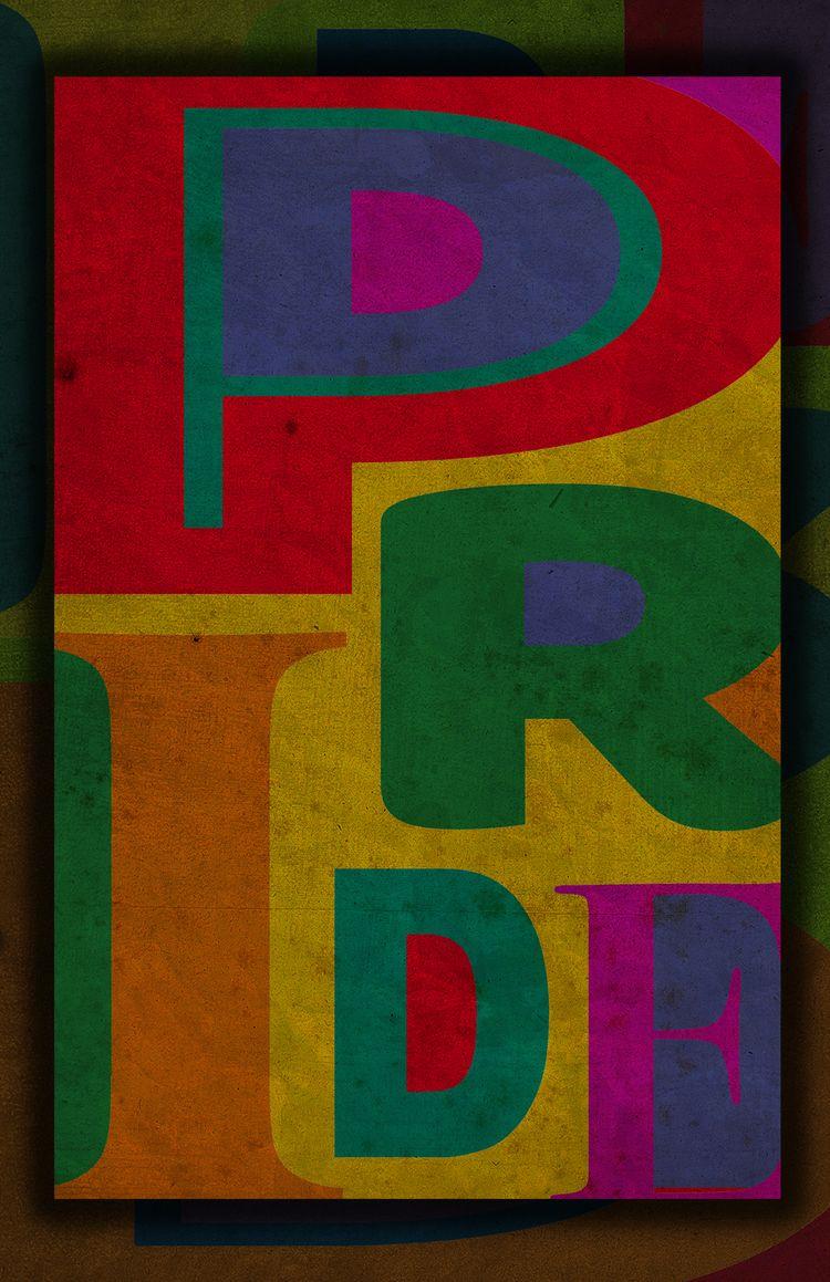 PRIDE - Hatched Poster Art them - vass | ello