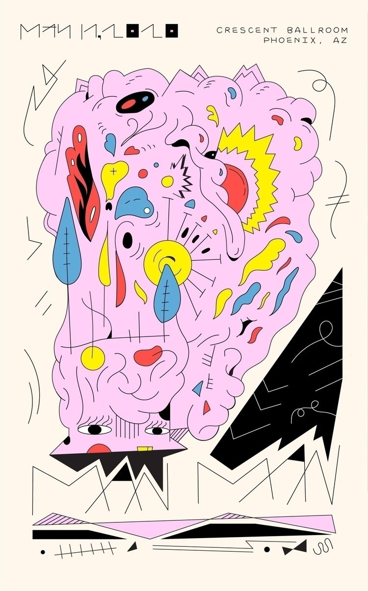 Poster design band, Man - illustration - jbartell32 | ello