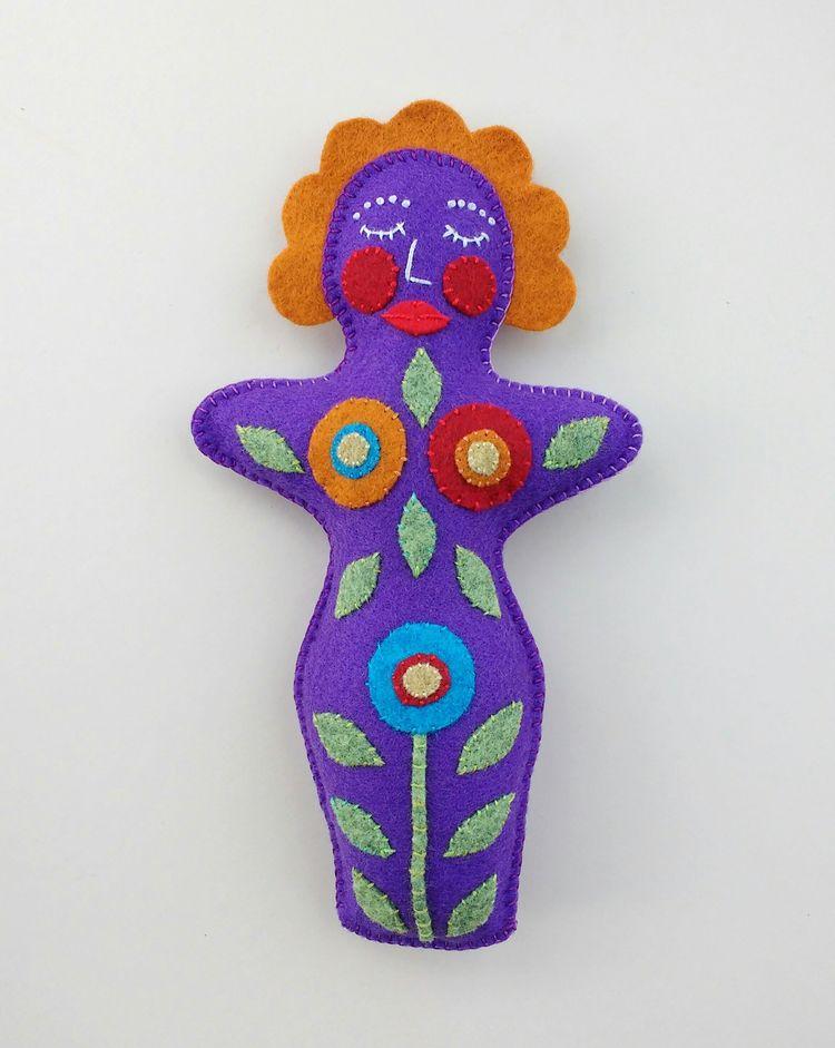 Flower Goddess Art Doll - kind  - firehorsetextiles | ello