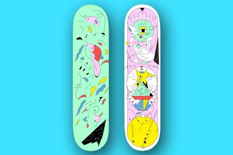 skateboards., illustration,, art, - jbartell32   ello