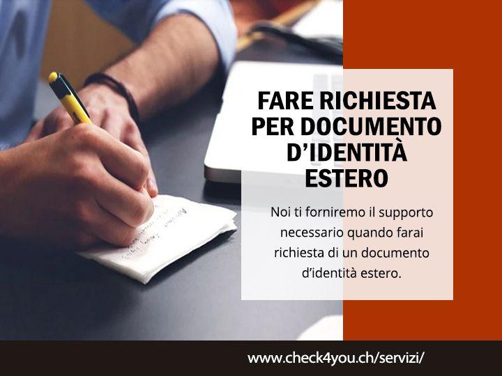 Fare richiesta documento estero - check4you | ello