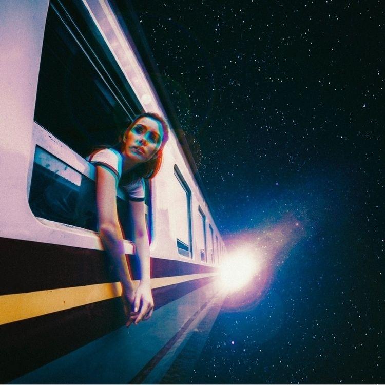 Aboard space train - collage, digitalart - taudalpoi | ello