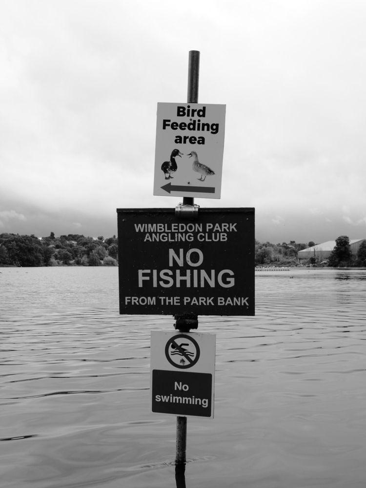 Fishing mixed messages - blackandwhitephotography - skazman | ello