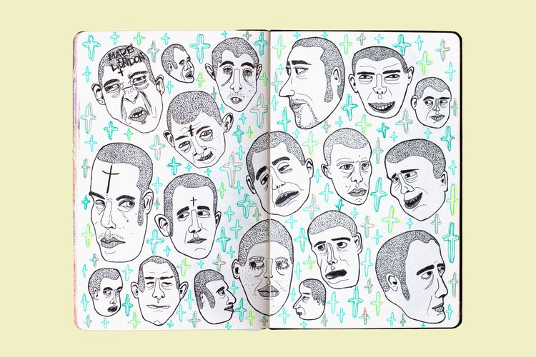 Skinhead Heads. head forms - pestana_sara | ello