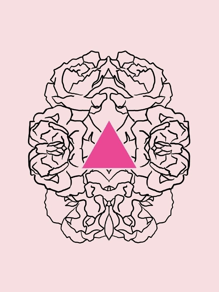 Carnations pink triangle / tatt - daydalaus | ello