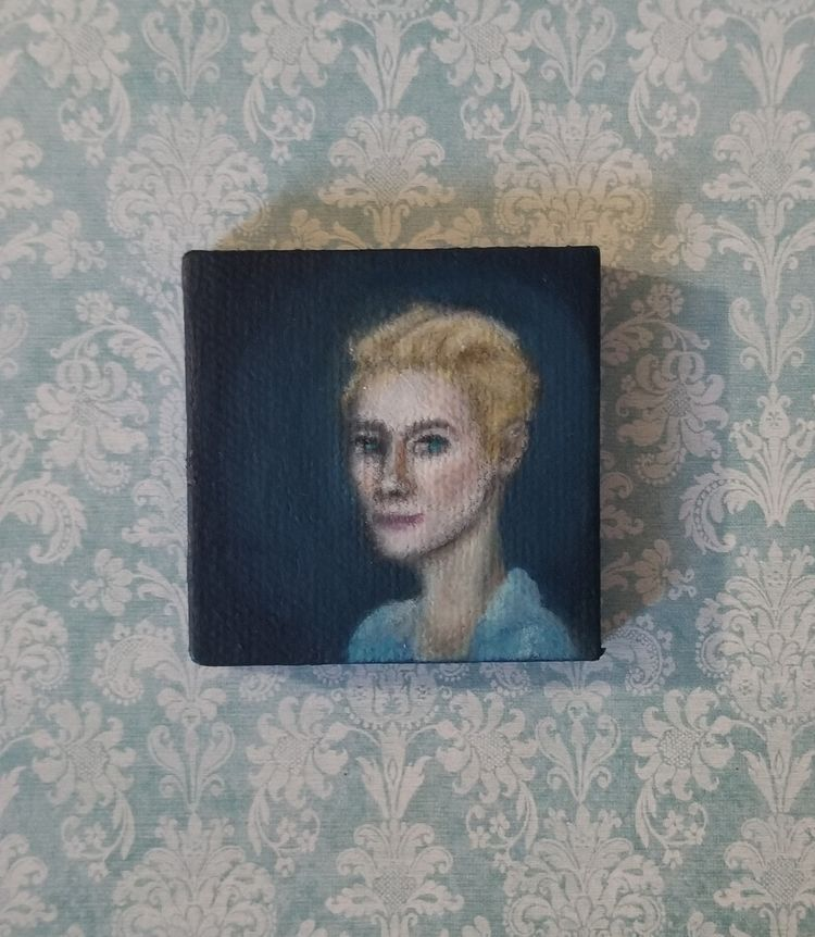 Tilda Swinton miniature oil pai - nora_ | ello