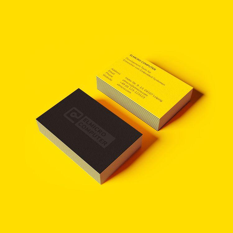 Business cards ELMICRO COMPUTER - transmontis | ello
