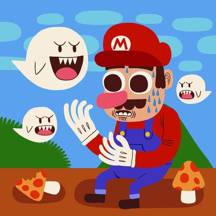 Mushroom Kingdom - illustration - jackteagle | ello