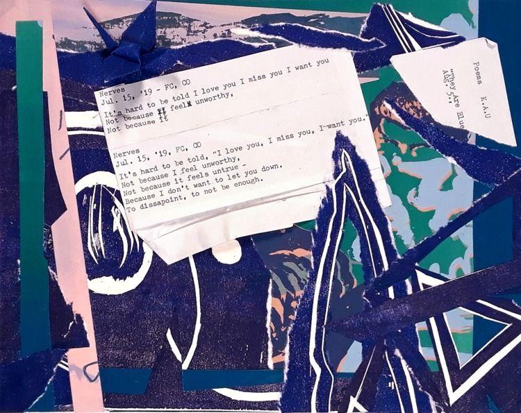 Collage analog printmaking work - kaupaint   ello