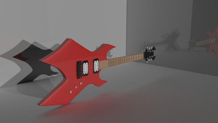 Eletric Guitar 3D model maya de - yusukekato   ello