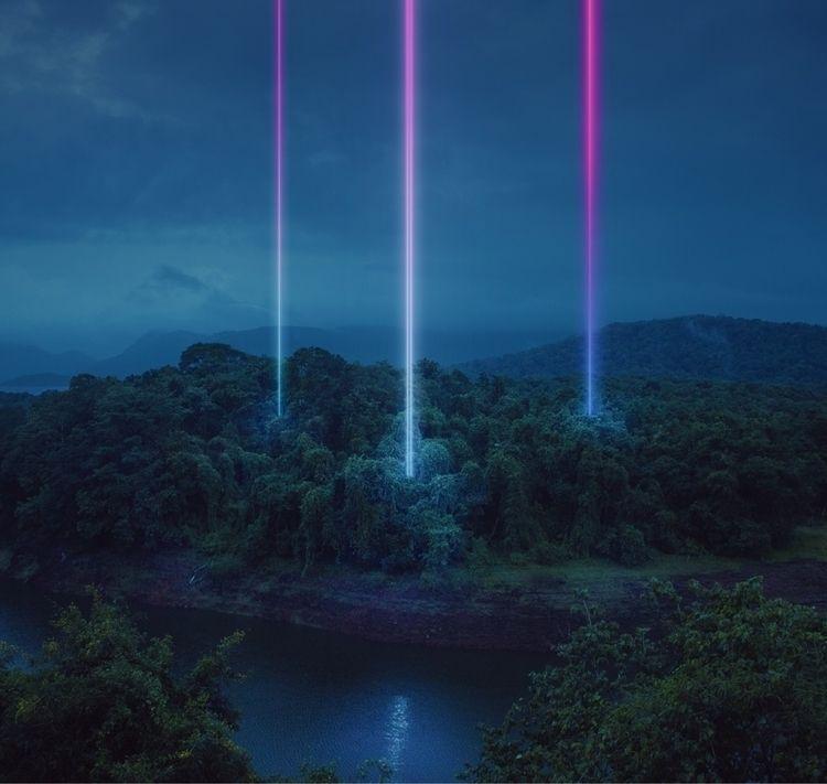 Dark paradise - digitalart, neon - riazhassan | ello