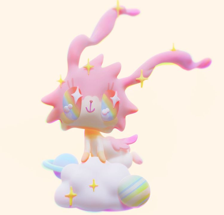 daydream - 3d, bunny, 3dart, sculpture - sashakatcher | ello