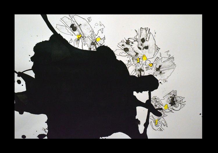 Ink markers flowers yellow hear - mrkacharmonrahal | ello